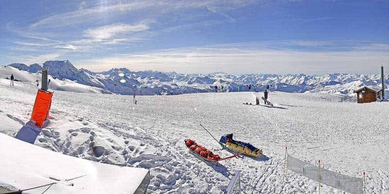 Webcam La Plagne - Glacier de Bellecote